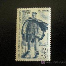 Sellos: FRANCIA 1950 IVERT 863 *** DÍA DEL SELLO - CARTERO RURAL. Lote 13823653