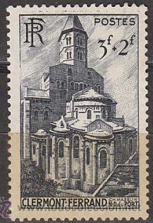 FRANCIA IVERT 773, CATEDRAL DE NOTRE DAME DE PORT, CLERMONT FERRAND, NUEVO SIN GOMA (Sellos - Extranjero - Europa - Francia)