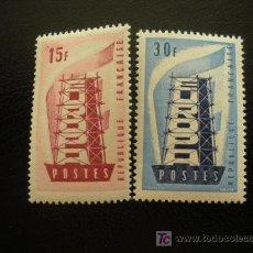 Sellos: FRANCIA 1956 IVERT 1076/7 *** EUROPA - TIPOGRAFÍA. Lote 16864148