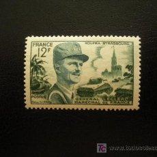 Sellos: FRANCIA 1954 IVERT 984 *** MARISCAL LECLERC - PERSONAJES - MILITARES. Lote 14946354