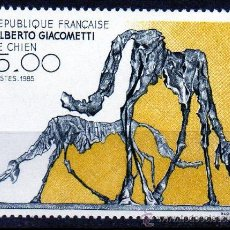 Sellos: FRANCIA AÑO 1985 YV 2392*** ARTE - ESCULTURA (EL PERRO) DE ALBERTO GIACOMETTI. Lote 16762557