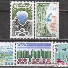 Sellos: FRANCIA IVERT 1863/6, REGIONES 1976, NUEVO. Lote 19460411