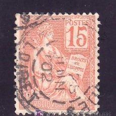 Sellos: FRANCIA 117A USADA, VARIEDAD CIFRA 1 TOCA EL CUADRO. Lote 20082559