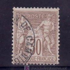 Sellos: FRANCIA 69 USADA, MATASELLO FECHADOR ESPAÑOL ADMON DE CAMBIO . Lote 20111380