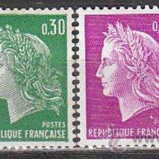 Sellos: FRANCIA IVERT Nº 1535/6B, SERIE BÁSICA: TIPO MARIANNE DE CHEFFER, NUEVO . Lote 20078673