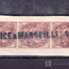 Sellos: FRANCIA 108(TRIO) FRAGMENTO CON MARCA LINEAL FF.CC. -NICE A MARSEILLE 1º- . Lote 22339675