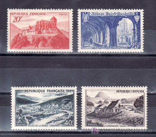 FRANCIA 841A/3 SIN CHARNELA, MONUMENTOS Y SITIOS, (Sellos - Extranjero - Europa - Francia)