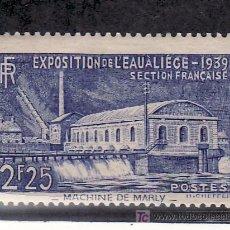 Sellos: FRANCIA 430 CON CHARNELA, EXPOSICION DEL AGUA EN LIEGE (BELGICA). Lote 20352470