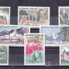Sellos: FRANCIA 1311/18 SIN CHARNELA, TURISMO, . Lote 21577225