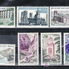 Sellos: FRANCIA 1235/41 CON CHARNELA, TURISMO, . Lote 21624641