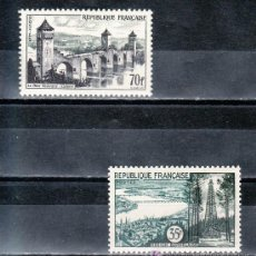 Sellos: FRANCIA 1118/9 SIN CHARNELA, TURISMO. Lote 20465819