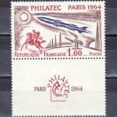 Sellos: FRANCIA 1422 SIN CHARNELA, PHILATEC, EXPOSICION FILATELICA INTERNACIONAL EN PARIS, . Lote 21577218