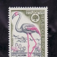Sellos: FRANCIA 1634 CON CHARNELA, FLAMENCO ROSA, AÑO EUROPEO DE LA NATURALEZA, . Lote 33334129