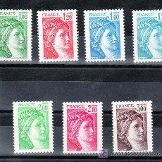Sellos: FRANCIA 1973/9 SIN CHARNELA, SABINA . Lote 20578086