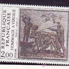 Sellos: FRANCIA 2174 SIN CHARNELA, HOMENAJE A VIRGILIO, MOSAICO, . Lote 20593626