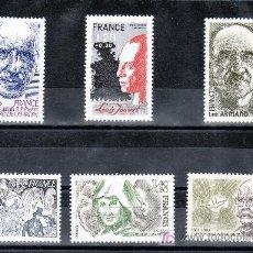 Sellos: FRANCIA 2148/53 SIN CHARNELA, PERSONAJES ACADEMICO, ARTISTA, RELIGION, COMPOSITOR, TEOLOGO, ESCRITOR. Lote 20593863