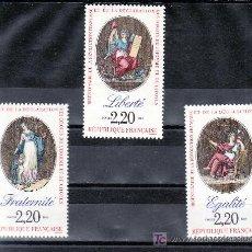 Sellos: FRANCIA 2573/5 SIN CHARNELA, BICENTENARIO REVOLUCION Y DECLARACION DERECHOS HUMANOS Y DEL CIUDADANO . Lote 20706397