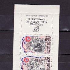 Sellos: FRANCIA 2570 BC CARNET SIN CHARNELA, PERSONAJES CELEBRES DE LA REVOLUCION, . Lote 24505329