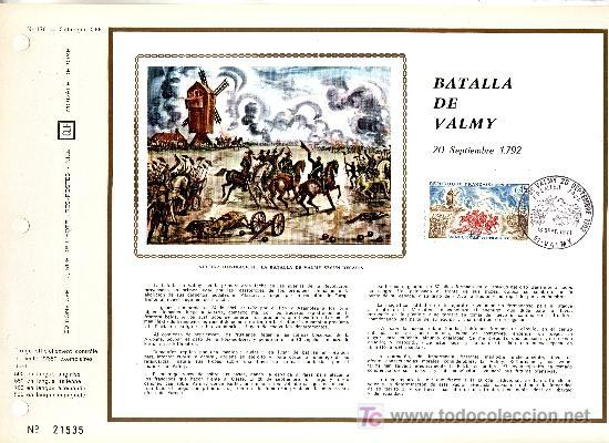 FRANCIA 1679 DOCUMENTO C.E.F. 178 PRIMER DIA, MOLINO, BATALLADE VALMY (Sellos - Extranjero - Europa - Francia)