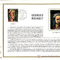 Sellos: FRANCIA 1673 DOCUMENTO C.E.F. 174 PRIMER DIA, OBRA DE GEORGES ROUAULT. Lote 20989831