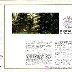 Sellos: FRANCIA 1886 DOCUMENTO C.E.F. 354 PRIMER DIA, PROTECCION NATURALEZA Y MEDIO AMBIENTE, BOSQUE DE TRON. Lote 20951520