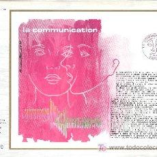 Sellos: FRANCIA 1884 DOCUMENTO C.E.F. 353 PRIMER DIA, LA COMUNICACION . Lote 20951531