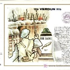 Sellos: FRANCIA 1883 DOCUMENTO C.E.F. 352 PRIMER DIA, 50º ANIVERSARIO VERDUN . Lote 20951571