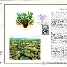 Sellos: FRANCIA 1865 DOCUMENTO C.E.F. 351 PRIMER DIA, REGION DE LIMOUSIN . Lote 20951588