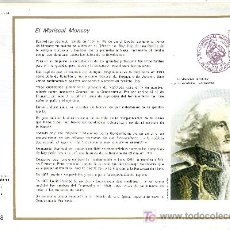 Sellos: FRANCIA 1880 DOCUMENTO C.E.F. 350 PRIMER DIA, MILITAR, MARISCAL MONCEY . Lote 20951619