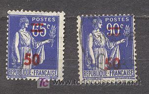 FRANCIA, 1940-41, YVERT TELLIER 479 Y 482, TIPO PAIX, (TIPOS DE 1932-38, CON SOBRECARGA) (Sellos - Extranjero - Europa - Francia)