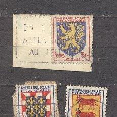Sellos: FRANCIA, 1951- YVERT TELLIER 901.902 Y 903. Lote 21284828