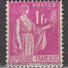 Sellos: FRANCIA IVERT Nº 286, TIPO PAZ (1932-7), NUEVO CON SEÑAL DE CHARNELA. Lote 21536982