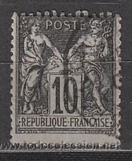 FRANCIA IVERT Nº 89 (AÑO 1877), TIPO PAZ Y COMERCIO, USADO (Sellos - Extranjero - Europa - Francia)