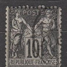 Sellos: FRANCIA IVERT Nº 89 (AÑO 1877), TIPO PAZ Y COMERCIO, USADO. Lote 288509643