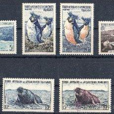 Sellos: ANTARTIDA FRANCESA TAAF AÑO 1956 YV 2/7* FAUNA - AVES - PINGÜINOS - NATURALEZA - POLAR. Lote 27641134