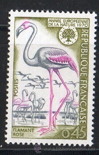 FRANCIA AÑO 1970 YV 1634*** AÑO EUROPEO PARA LA PROTECCIÓN DE LA NATURALEZA - AVES - FAUNA (Sellos - Extranjero - Europa - Francia)