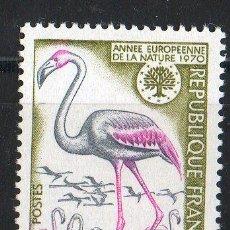 Sellos: FRANCIA AÑO 1970 YV 1634*** AÑO EUROPEO PARA LA PROTECCIÓN DE LA NATURALEZA - AVES - FAUNA. Lote 22672426