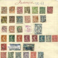 Sellos: (SE-61)LOTE DE SELLOS DE FRANCIA. Lote 22806470