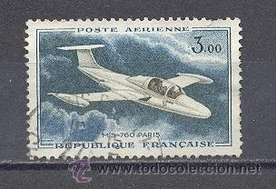 FRANCIA,1960-64- AEREO, USADO- YVERT TELLIER 39 (Sellos - Extranjero - Europa - Francia)