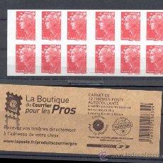 Sellos: FRANCIA 2010. CARNÉ MARIANNE. . EN PORTADA LEYENDA. BOUTIQUE COURRIER POUR LES PROS.. Lote 26515214