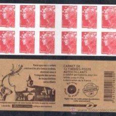 Sellos: FRANCIA 2010. CARNET MARIANNE. CON PROPAGANDA EN CUBIERTA PARA ABONO A SELLOS DE FRANCIA. Lote 26445880