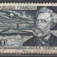 Sellos: FRANCIA IVERT Nº 1026, CENTENARIO DE JULIO VERNE (EL NAUTILUS), USADO. Lote 235652070