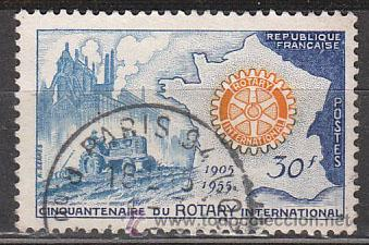 FRANCIA IVERT Nº 1009, 50 ANIVERSARIO DEL ROTARY INTERNACIONAL, USADO (Sellos - Extranjero - Europa - Francia)