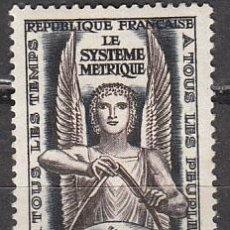 Sellos: FRANCIA IVERT 998, 10 CONFERENCIA DE PESOS Y MEDIDAS DE PARIS, EL SISTEMA METRICO DECIMAL, NUEVO. Lote 26750034