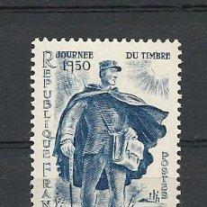 Sellos: FRANCIA 1950, YVERT Nº 863*, DIA DEL SELLO. FIJASELLOS. Lote 27976829