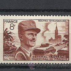 Sellos: FRANCIA 1953, YVERT Nº 942*, GENERAL LECLERC MARISCAL DE FRANCIA. FIJASELLOS.. Lote 28011355