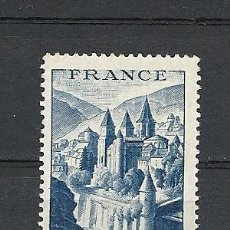 Sellos: FRANCIA 1948, YVERT Nº 805*, ABADIA DE CONQUES. FIJASELLOS.. Lote 28132335