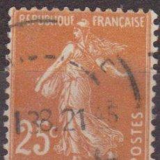 Sellos: FRANCIA 1906-37 SCOTT 169 SELLO SEMBRADOR 25C USADO FRANCE . Lote 28247684