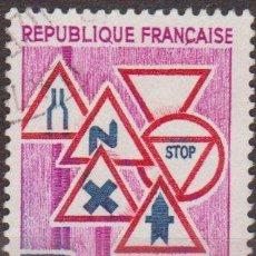 Sellos: FRANCIA 1968 SCOTT 1203 SELLO SEÑALES DE TRAFICO PREVENCION EN RUTA 25C USADO FRANCE . Lote 28248114