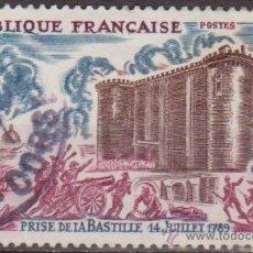 Sellos: FRANCIA 1971 SCOTT 1307 SELLO TOMA DE LA BASTILLA (14/07/1789) 65C USADO FRANCE . Lote 28248257